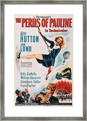 The Perils Of Pauline, Us Poster, Betty Framed Print by Everett