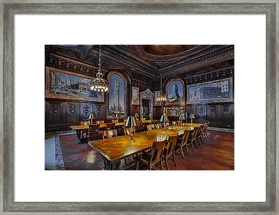 The Periodicals Room At The New York Public Library Framed Print by Susan Candelario