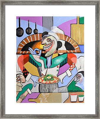 The Personal Size Gourmet Pizza Framed Print by Anthony Falbo