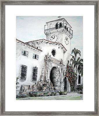 The Perspective Of The Building Framed Print by Danuta Bennett