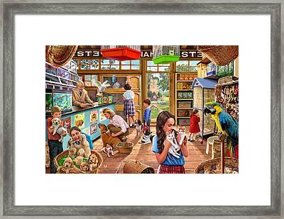 The Pet Shop Framed Print by Steve Crisp