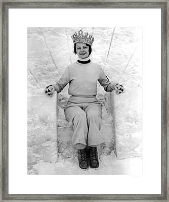 The Petosky Snow Queen Framed Print by Underwood Archives