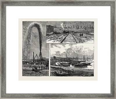 The Petroleum Wells Of Baku On The Caspian Sea 1 Framed Print by English School