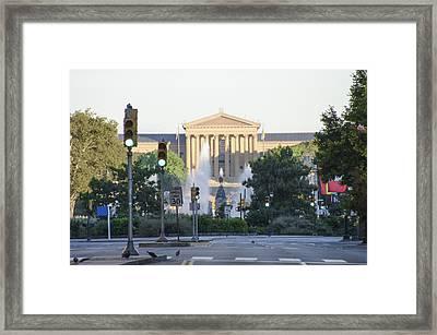 The Philadelphia Art Museum From The Parkway Framed Print