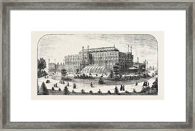 The Philadelphia Exhibition, The Horticultural Buiding Framed Print by American School