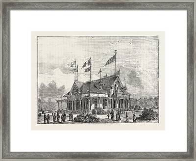 The Philadelphia Exhibition The Singer Sewing Machine Framed Print by American School