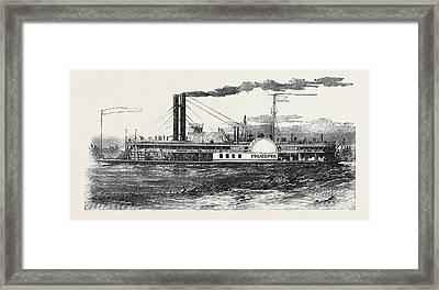 The Philadelphia Mississippi Steamer Framed Print by English School