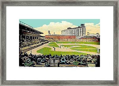 The Phillies Baker Bowl In Philadelphia Pa In 1914 Framed Print by Dwight Goss