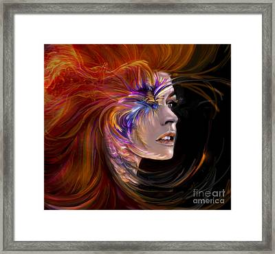 The Phoenix  Fire Flames And Rebirth Framed Print