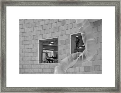 The Phone Call Framed Print by Lynn Palmer
