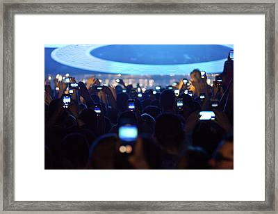 The Phone Zone Framed Print by Dave G Kelly