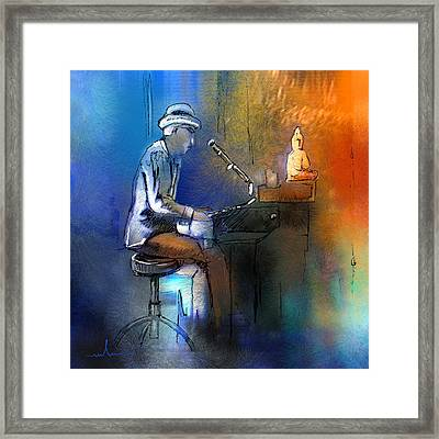 The Pianist 01 Framed Print by Miki De Goodaboom