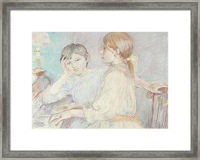 The Piano Framed Print by Berthe Morisot