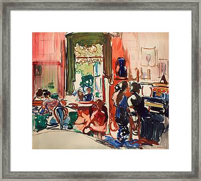 The Piano Lesson Framed Print by Mountain Dreams