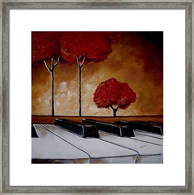 The Piano Man's Dream Framed Print by Vickie Warner