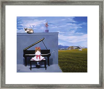 The Piano Player Framed Print by Michael Bridges