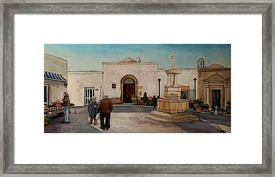 The Piazza Framed Print by Anne Parker