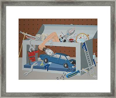 the Pickleheads Toolbox Framed Print by Dan Driscoll