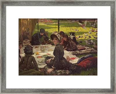 The Picnic Dejeuner Sur Lherbe, C.1881-2 Panel Framed Print