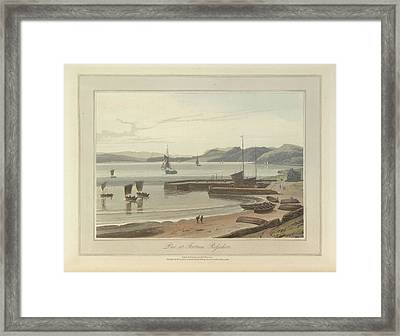 The Pier At Fortrose In Rosshire Framed Print by British Library