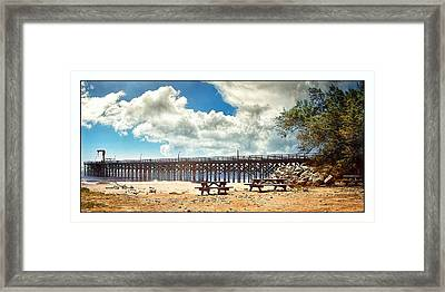 Framed Print featuring the photograph The Pier At Gaviotta by Steve Benefiel