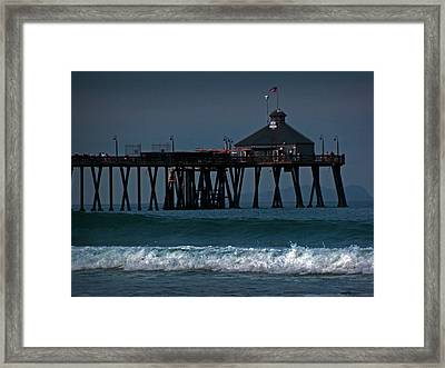 The Pier At Imperial Beach Framed Print
