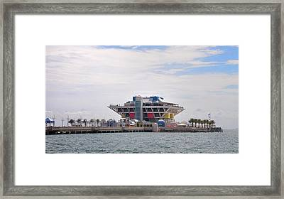 The Pier At St Petersburg Framed Print by Bill Cannon