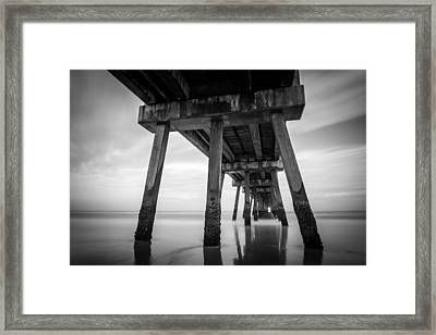 The Pier Framed Print by Clay Townsend