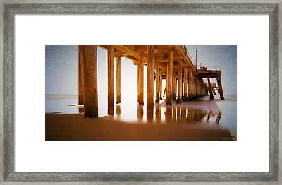 The Pier Framed Print by Heidi Smith
