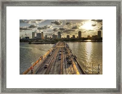 The Pier In Saint Petersburg Florida Framed Print