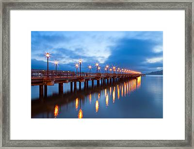 Framed Print featuring the photograph The Pier by Jonathan Nguyen