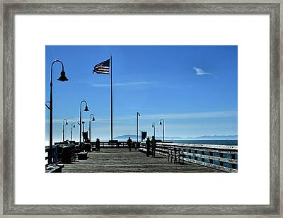 Framed Print featuring the photograph The Pier by Michael Gordon