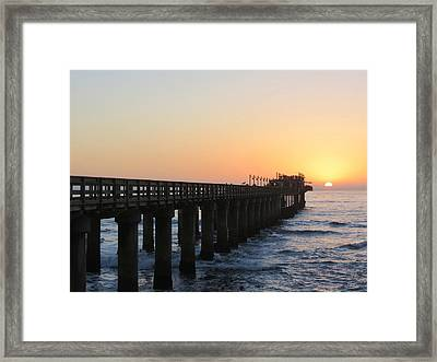 Framed Print featuring the photograph The Pier by Ramona Johnston