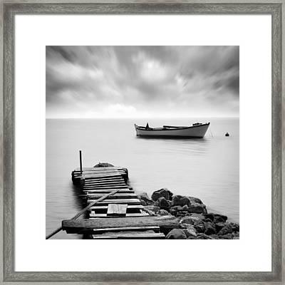 The Pier Framed Print by Taylan Apukovska