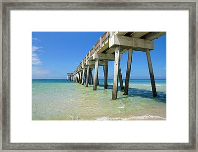 The Pier Framed Print by Thomas Fouch