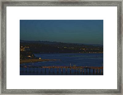 Framed Print featuring the photograph The Pier by Tom Kelly