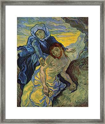 The Pieta After Delacroix 1889 Framed Print by Vincent Van Gogh