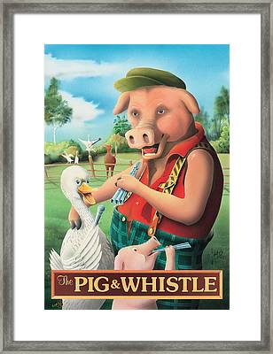 The Pig & Whistle Framed Print by Peter Green