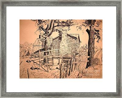The Pig Sty Framed Print by Kip DeVore