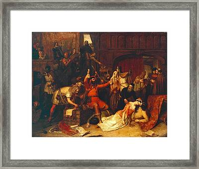 The Pillaging Of A Jew S House In The Reign Of Richard I  Framed Print by Celestial Images