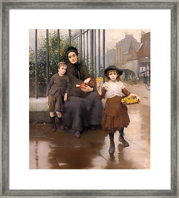 The Pinch Of Poverty Framed Print