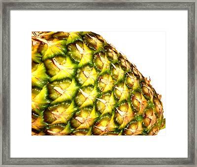 The Pineapple Framed Print by Saad Hasnain