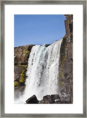 The Pingvellir Cascade Framed Print