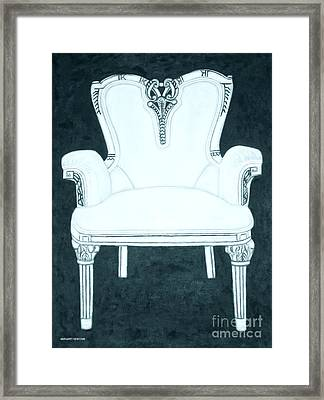 The Pink Chair Gone Cyanide Framed Print