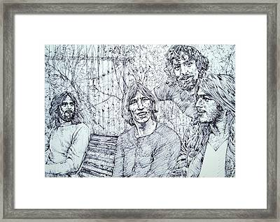 the PINK FLOYD  - drawing portrait Framed Print by Fabrizio Cassetta