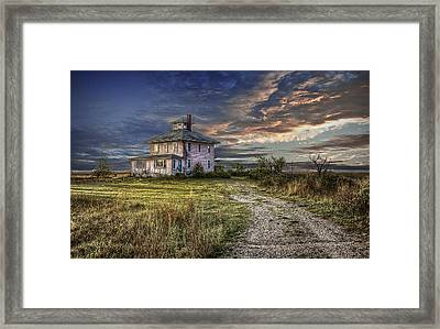 The Pink House - Color Framed Print