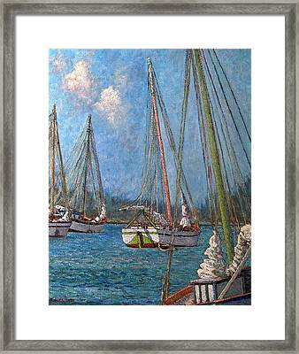 The Pink Mast Framed Print