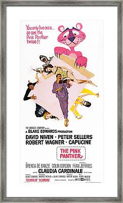 The Pink Panther, Us Poster Art, Center Framed Print by Everett
