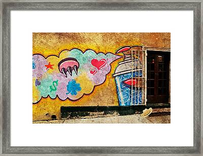 The Pink Paw  Framed Print by Diana Angstadt