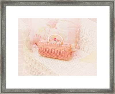 The Pink Purse Framed Print by Kim Hojnacki